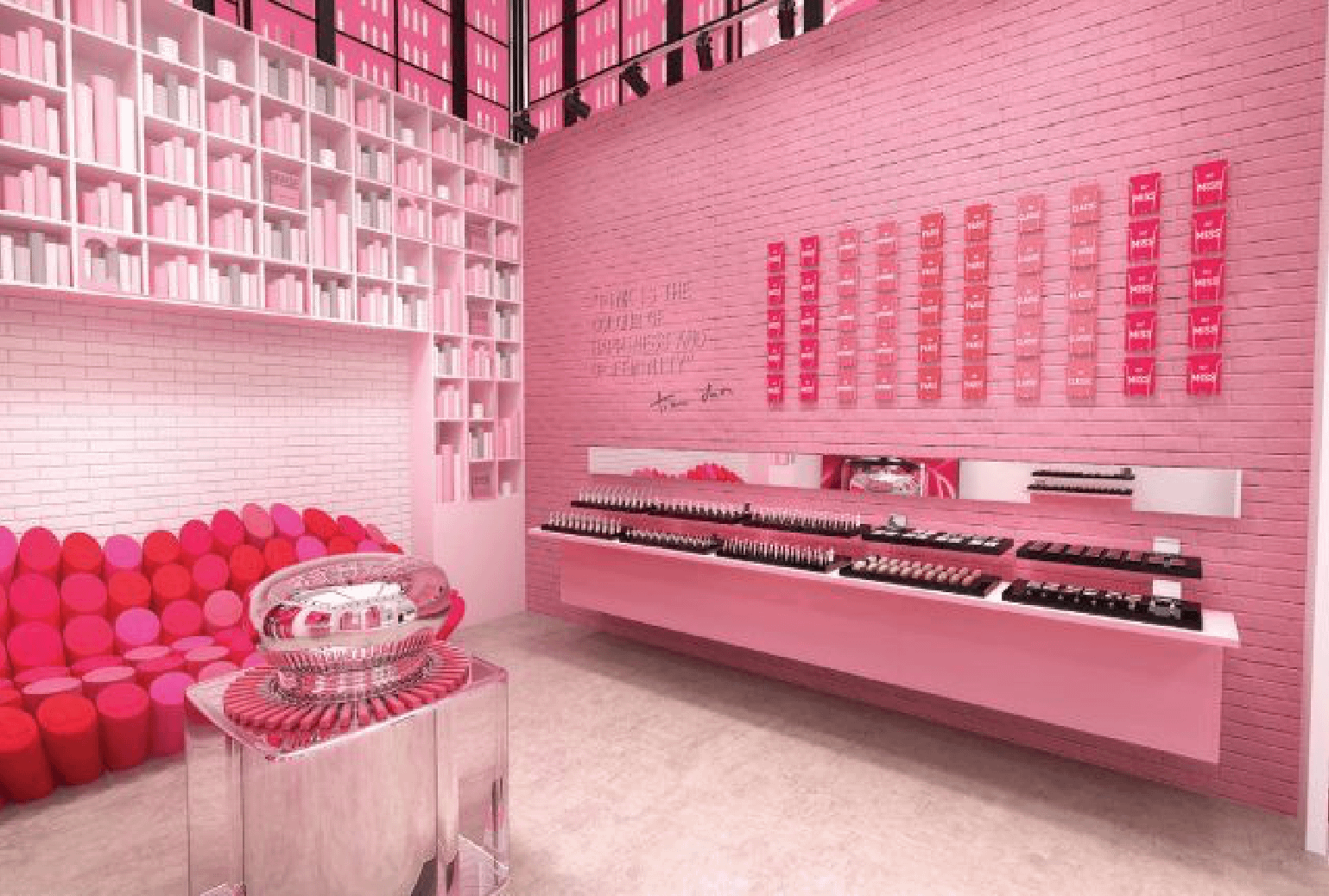 Magasin Dior Pink City