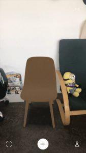 Chaise en réalité augmentée marron