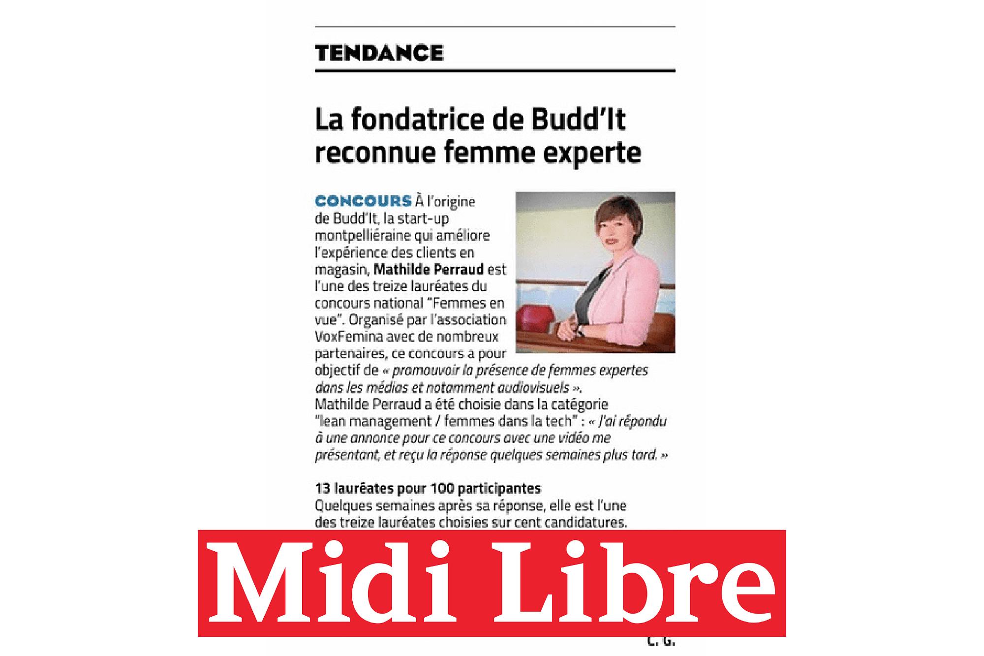 Article de journal Midi Libre sur Mathilde Perraud