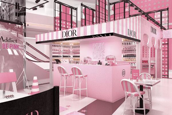 Commerce Dior Pink City expérience dans le luxe