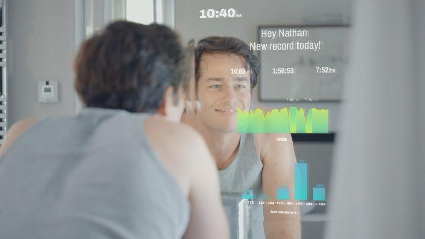 miroir intelligent coach sportif virtuel