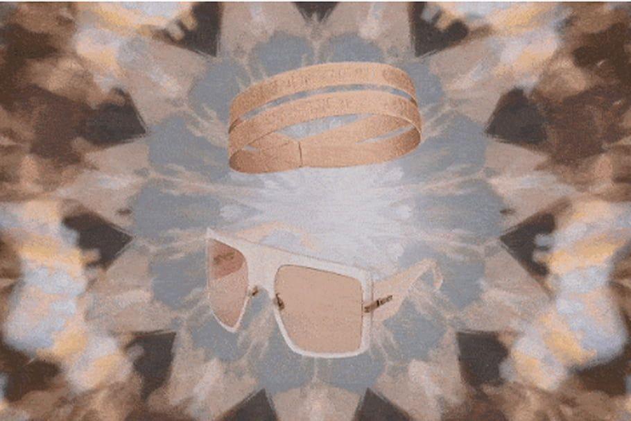 Kaléidoscope bague et lunettes