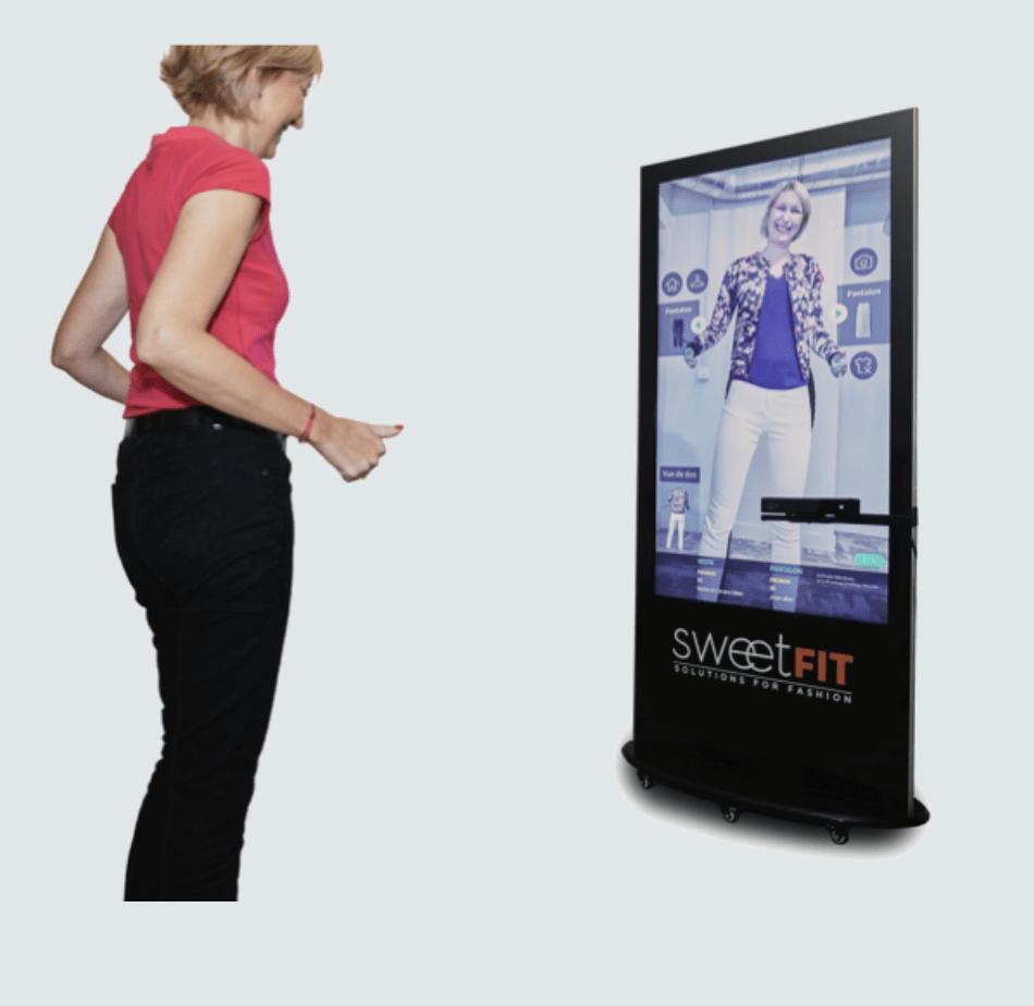 miroir connecté essayage vêtement virtuels