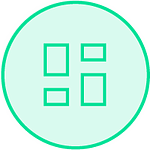 Logo dashboard structuré et organisé
