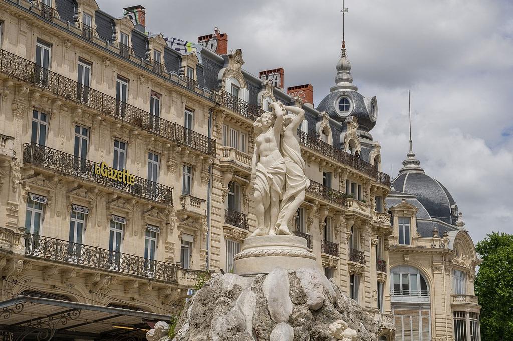 Les 3 Grâces place de la Comédie à Montpellier