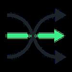 Logo flèches croisées