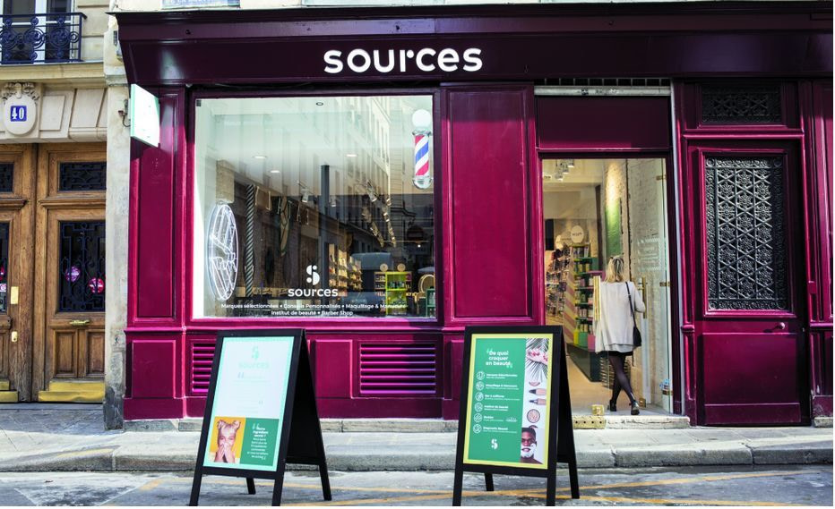 Le magasin beauté Sources de Carrefour